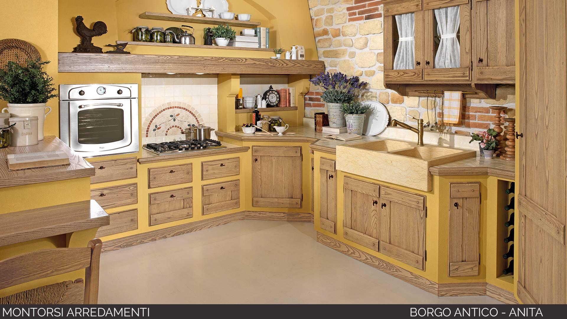 Cucine borgo antico montorsi arredamenti for 3 arredamenti